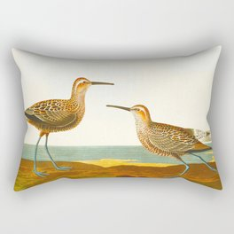 Long-legged Sandpiper Bird Rectangular Pillow