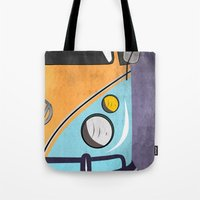 car Tote Bags featuring car  by mark ashkenazi