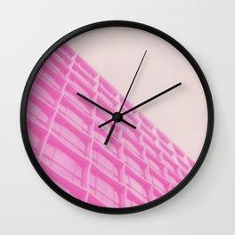 Pink Building Wall Clock