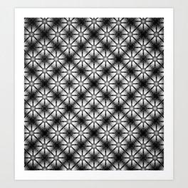 Black and White Daisy Pattern Art Print