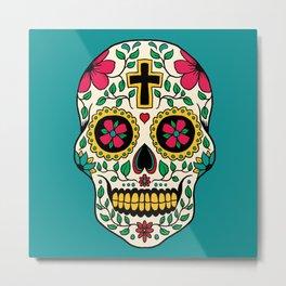 Skull Tattoo Metal Print
