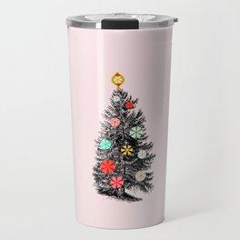 Retro Christmes tree no2 Travel Mug
