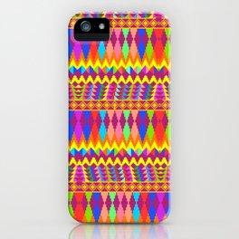 Weaving loom fabric pattern  iPhone Case