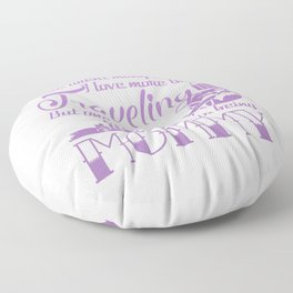 Traveling Mommy Floor Pillow