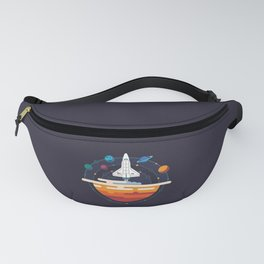 Space Shuttle & Solar System Fanny Pack