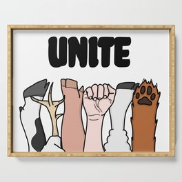 Unite Animal Equality Fists Serving Tray
