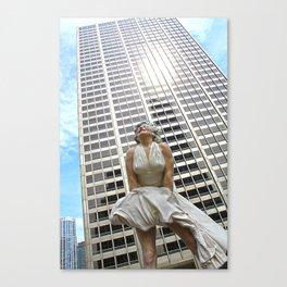 Windy City Marilyn  Canvas Print