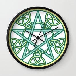 Celtic Pentacle Wall Clock