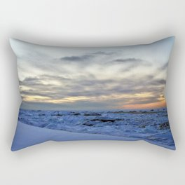 Icy Sea at Sunset Rectangular Pillow