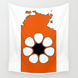 Northern Territory Australia Map with NT Flag Wall Tapestry