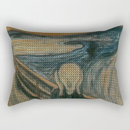The Scream Lovingly Knitted by Granny E-Munch Rectangular Pillow