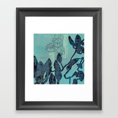 Indigo Vines Framed Art Print