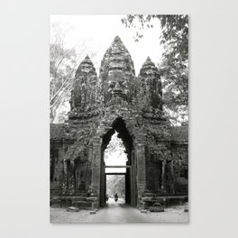 Mysterious buddhist khmer history in Cambodia Canvas Print