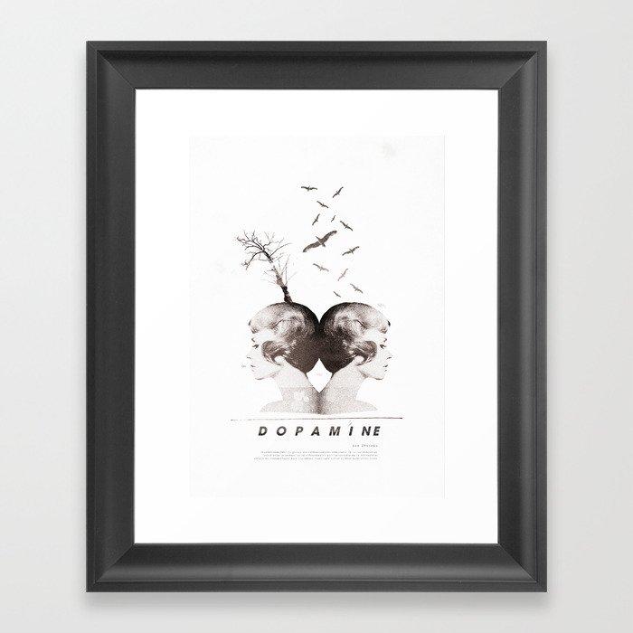 Dopamine | Collage Framed Art Print