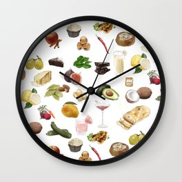 Food Pattern Wall Clock