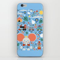 dumbo iPhone & iPod Skins featuring Dumbo by Carly Watts