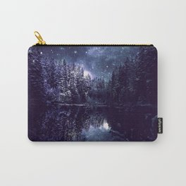 A Cold Winter's Night Midnight Blue Winter Wonderland Carry-All Pouch