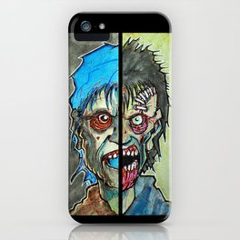 Two Half Zombie iPhone Case