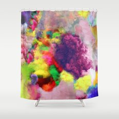 Colorful Smoke And Mirrors Shower Curtain