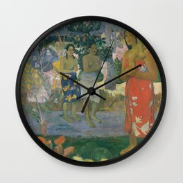 Paul Gauguin - Ia Orana Maria (Hail Mary) (1891) Wall Clock