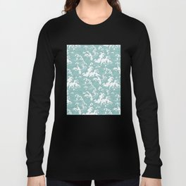 Traditional Hand Drawn Japanese Wave Ink Long Sleeve T-shirt