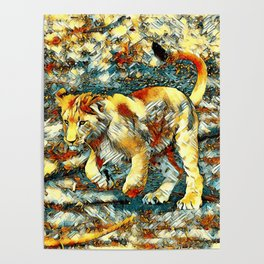 AnimalArt_Lion_20171010_by_JAMColors Poster