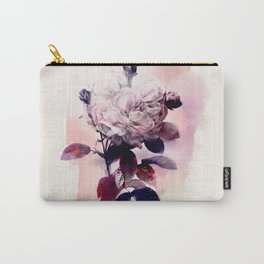 purple rose single vintage watercolor Carry-All Pouch