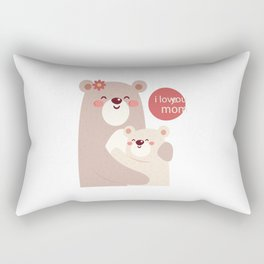 Mutual snatched bear mother and child Rectangular Pillow