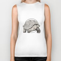 tortoise Biker Tanks featuring Tortoise by Twentyfive