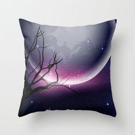 Face of the Moon Throw Pillow