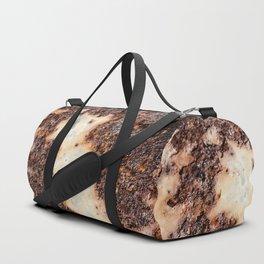 Cool brown rusty metal texture Duffle Bag