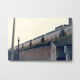 The Train is my Favorite Sound Metal Print