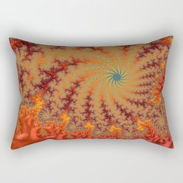 Crimson Alley - Fractal Art Rectangular Pillow