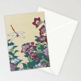 Hokusai (1760-1849) Bell-flowers and Dragonfly Stationery Cards