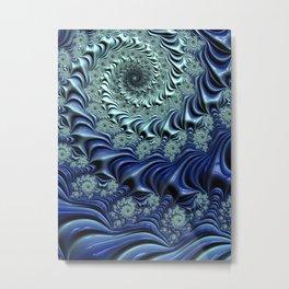 Down the Rabbit Hole - Fractal Art Metal Print