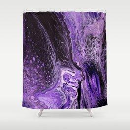 Purple Pour Shower Curtain