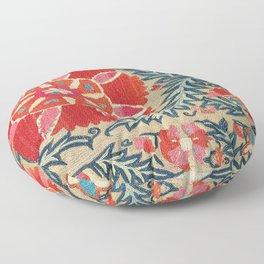 18th Century Suzani Fragment Print Floor Pillow