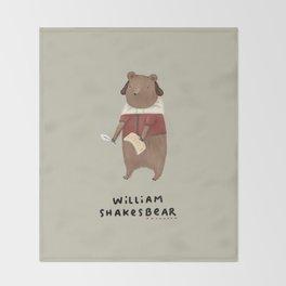 William Shakesbear Throw Blanket