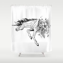 Exploding Unicorn Shower Curtain