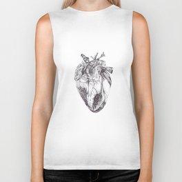 Stippling Heart Biker Tank