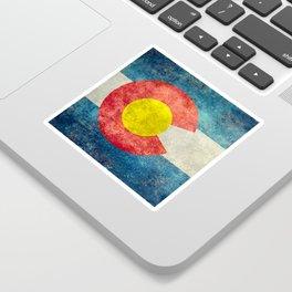 Colorado State Flag in Vintage Grunge Sticker