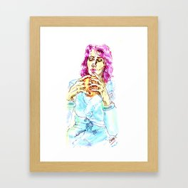 Coffee after shower- Coffee lovers- Framed Art Print