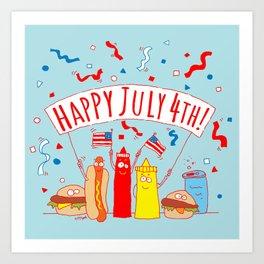 Happy July Fourth Picnic Art Print