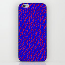 Blue/Red iPhone Skin