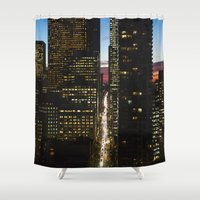 toronto Shower Curtains featuring Toronto Sunset by Jen Grantham Photography