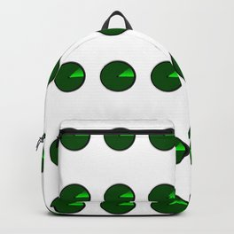 Radar Screen With A Green UFO Dot Backpack