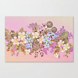 Sweet pastel pink flowers Canvas Print
