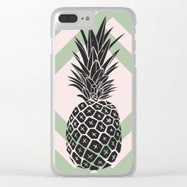Scandinavian pineapple Clear iPhone Case