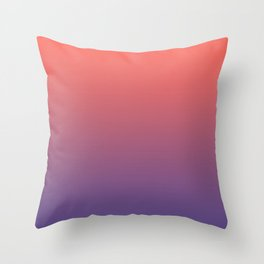 Living Coral Ultra Violet Gradient Pattern Throw Pillow