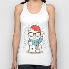 Hipster Kitty Unisex Tank Top